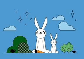 Conigli vettoriali gratis