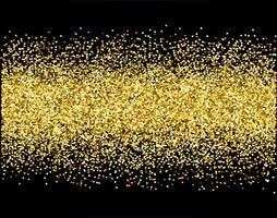 cascate scintillio dorato sparkle-bubbles particelle di champagne stelle sfondo nero felice anno nuovo concetto di vacanza. vettore