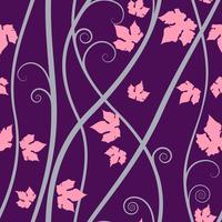 Fondo senza cuciture degli elementi floreali porpora su arte di vettore. vettore