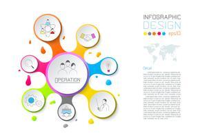 La spruzzata di affari delle etichette della goccia di acqua modella infographic.