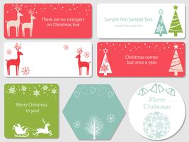 Set di cartoline di Natale assortiti. vettore