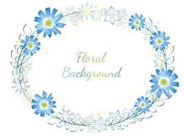 Cornice floreale ad acquerello.