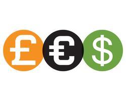 Vettore dell'illustrazione dell'icona di vettore dei soldi