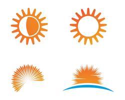 Sun logo e simboli stella icona web vettoriale -