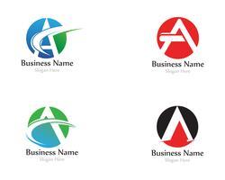 Un logo lettera con vettore di swoosh