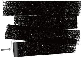 Dipinga il fondo astratto del rullo isolato su un fondo bianco. vettore