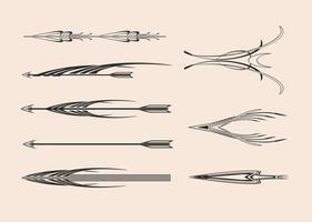 Pacchetto di vettore di frecce decorative
