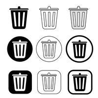 cestino può riciclare icona bin vettore