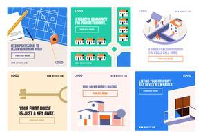 Modello di casa di proprietà casa sistemazione social media post raccolta