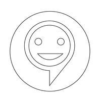 icona della bolla di destinazione vettore