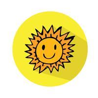 Vettore icona di sole