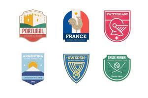 Insieme di logo del paese squadra di calcio