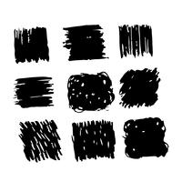 Linea di schizzo dell'inchiostro del tratto di pennello disegnato a mano