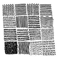 Linea di schizzo dell'inchiostro del tratto di pennello disegnato a mano di vettore