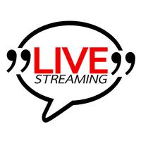 Disegno di vettore del segno online di Live Streaming