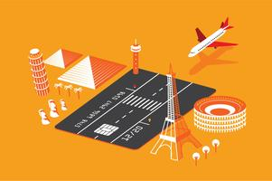 Illustrazione di beneficio di viaggio della carta di credito