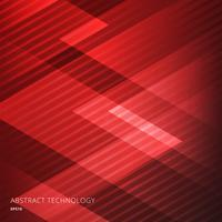 Fondo rosso dei triangoli geometrici eleganti astratti con il modello di linee diagonali. Stile tecnologico