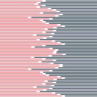 Le linee a strisce astratte modellano blu scuro e rosa su progettazione minima di struttura bianca del fondo.