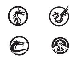 Illustrazione di icona di vettore del drago