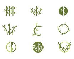 Icona di bambù Logo Template vettoriale