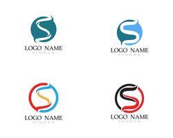 S logo modello di linea vettoriale font