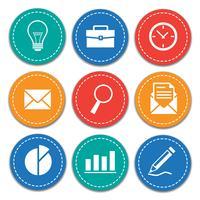 Set di icone di affari e ufficio vettore