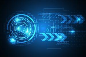 Vector il concetto astratto della tecnologia del fondo.