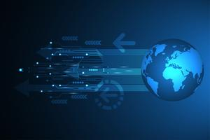 Vector l'innovazione astratta della tecnologia del fondo del mondo futuro.