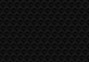 I cubi neri realistici geometrici di simmetria 3D modellano il fondo e la struttura scuri. vettore