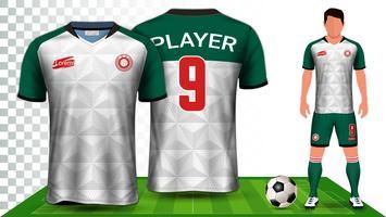 Modello di mockup di presentazione di Soccer Jersey e Football Kit.