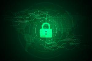 Vector il concetto astratto di sicurezza della tecnologia del fondo.