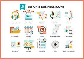 Le icone di affari hanno impostato per il commercio