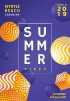 Disegno vettoriale di poster estivi