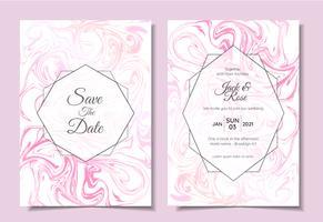 Modern Wedding Invitation Set Marble Texture Bei colori moderni. Modello di carte multiuso alla moda di tendenza come poster, copertina, libro, imballaggio