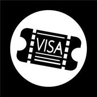 Icona di ingresso Visa vettore