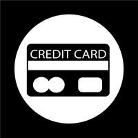 Icona della carta di credito vettore