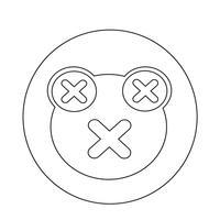 Icona della rana vettore