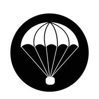icona del paracadute vettore