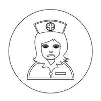 Icona infermiera vettore