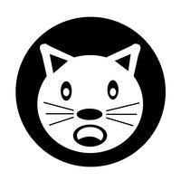 Icona del gatto vettore