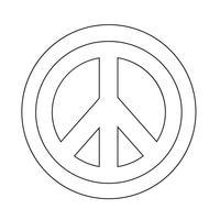 Icona simbolo pace hippie vettore