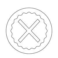 Annulla icona croce