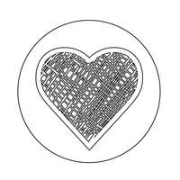 Icona del cuore vettore