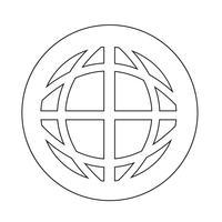 Icona di terra del globo