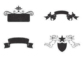 confezione di quattro vettoriale vintage banner