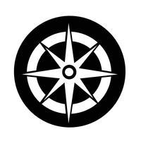 Icona della bussola vettore