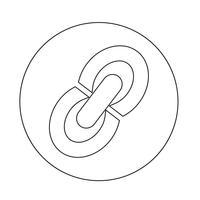 Inserisci l'icona Modifica link vettore