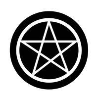 Icona del pentagramma vettore