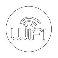 Segno di icona wifi vettore
