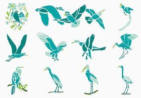 Pacchetto di uccelli tropicali